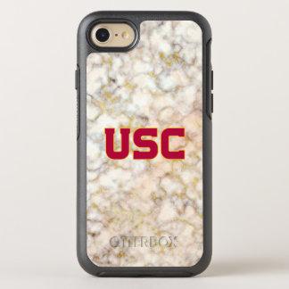 USC Trojans   Rose Gold Marble OtterBox Symmetry iPhone 8/7 Case