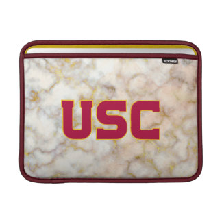 USC Trojans | Rose Gold Marble Sleeve For MacBook Air