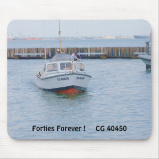 USCG 40 Foot Utility Boat Large # 40450 Front View Mouse Pad