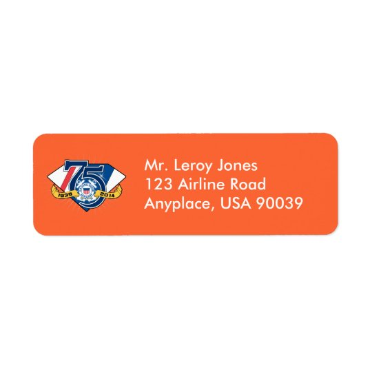 USCG Auxiliary 75th Anniversary Return Address Label