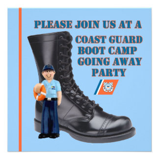 USCG Boot Camp Going Away Party Invitation