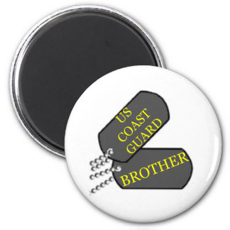 USCG Brother 6 Cm Round Magnet