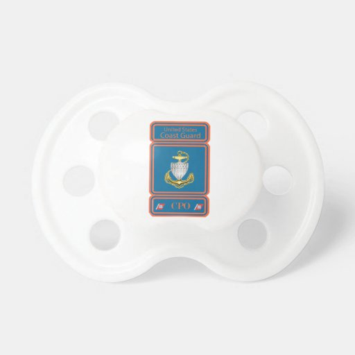 USCG Chief Petty Officer Logo Baby Pacifiers