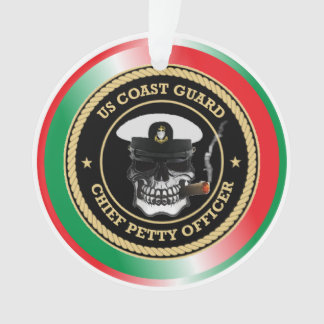USCG Chief Petty Officer Skull Ornament