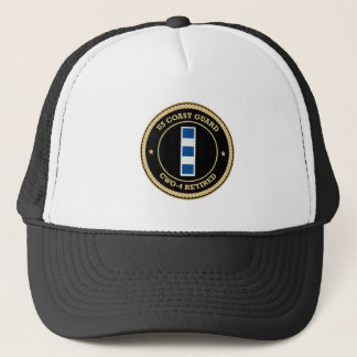 USCG CWO-4 Retired Collar Device Shield Trucker Hat