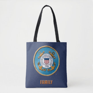 USCG Family Custom All-Over-Print Tote Bag