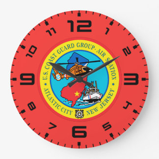 USCG Group Air Station New Jersey Large Clock