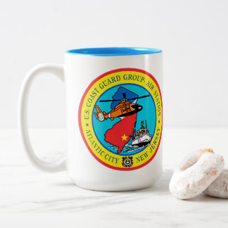 USCG Group Air Station New Jersey Two-Tone Coffee Mug