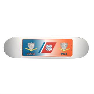 USCG Guard Third Class Petty Officer Shield Custom Skateboard