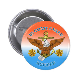 USCG LCdr Retired Eagle Anchor Shield 6 Cm Round Badge