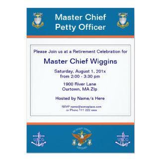 USCG MCPO Eagle Anchor Retirement Invitation