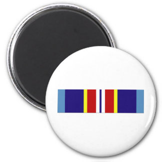 USCG Overseas Service Ribbon 6 Cm Round Magnet