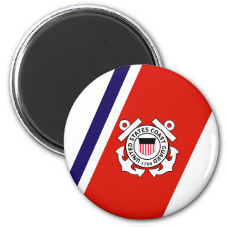 USCG Racing Stripe - Right 6 Cm Round Magnet