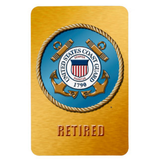 "USCG Retired 4""x6"" Photo Magnet"