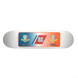 USCG Second Class Petty Officer Shield Skateboard