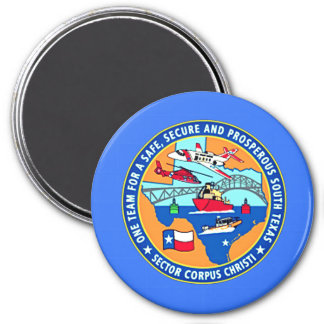 USCG Station Corpus Christi Texas 7.5 Cm Round Magnet