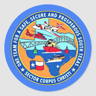 USCG Station Corpus Christi Texas Round Sticker