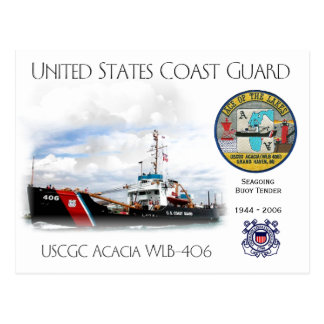 USCGC Acacia WLB-406 Buoy Tender Postcard