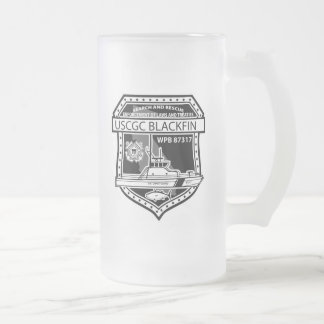 USCGC Blackfin WPB-87317 Frosted Glass Beer Mug