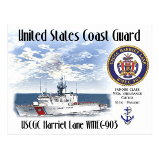 USCGC Harriet Lane WMEC-903 Postcard