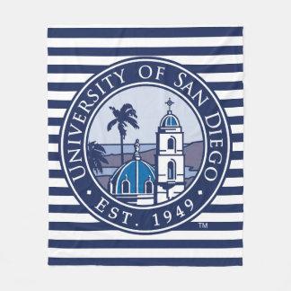 USD | Est. 1949 - Stripe Pattern Fleece Blanket