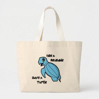 Use a Reusable - Save a Turtle! Jumbo Tote Bag