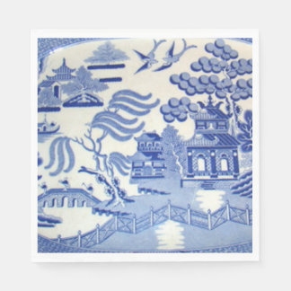 Use Blue Willow Luncheon Napkins & You've Arrived Disposable Napkins