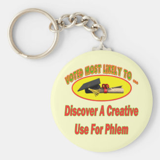 Use For Phlem Basic Round Button Key Ring