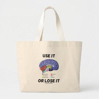 Use It Or Lose It Brain Anatomy Humor Saying Bag