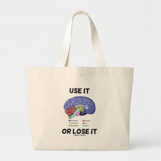 Use It Or Lose It (Brain Anatomy Humor Saying) Jumbo Tote Bag
