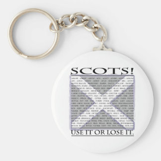 Use it or Lose it Basic Round Button Key Ring
