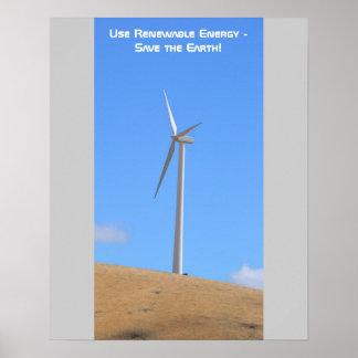 Use Renewable Energy Poster