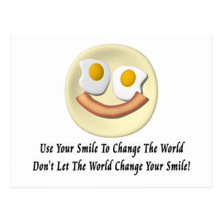 Use Your Smile To Change The World Postcard