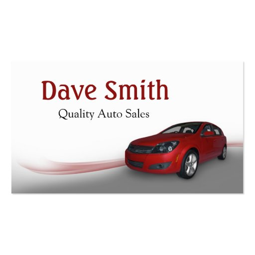 Used car dealer and service pack of standard business for Car sales business cards