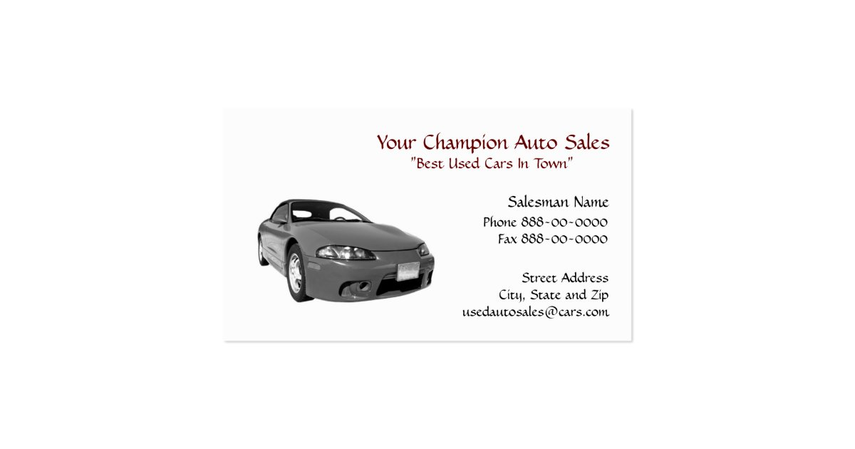 Used Car Dealer Office Supplies