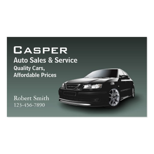 Used car dealer pack of standard business cards zazzle for Car sales business cards