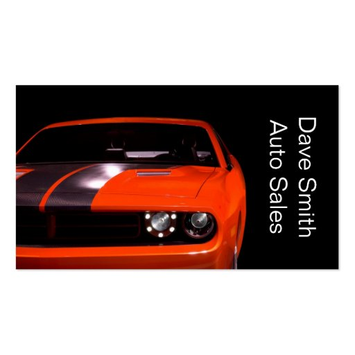 Used car dealer zazzle for Car sales business cards
