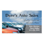 Used Car Salesman Business Card Templates