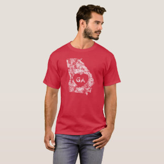 Used I Love Georgia State Men's Basic Dark T-Shirt