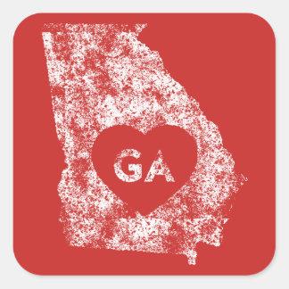Used I Love Georgia State Stickers