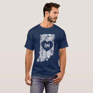 Used I Love Indiana State Men's Basic Dark T-Shirt