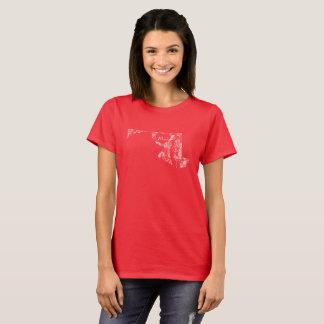 Used I Love Maryland State Women's Basic T-Shirt