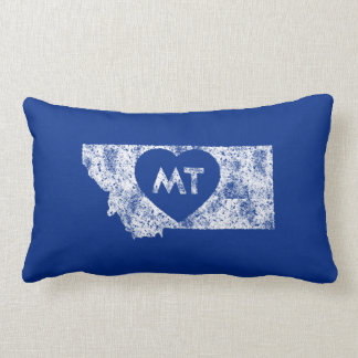 Used I Love Montana State Rectangle Throw Pillow