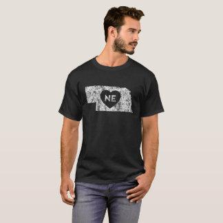 Used I Love Nebraska State Men's Dark T-Shirt