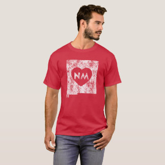 Used I Love New Mexico State Men's Dark T-Shirt