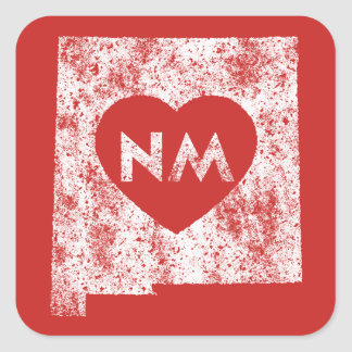 Used I Love New Mexico State Square Stickers