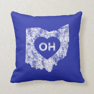 "Used I Love Ohio State Throw Pillow 16"" x 16"""