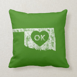 Used I Love Oklahoma State Pillow