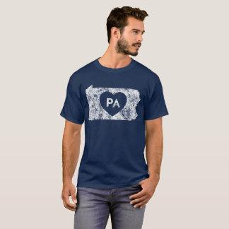 Used I Love Pennsylvania State Men's Dark T-Shirt