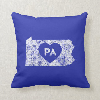 Used I Love Pennsylvania State Throw Pillow